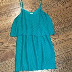 Kelly Green Pleated Parker Dress